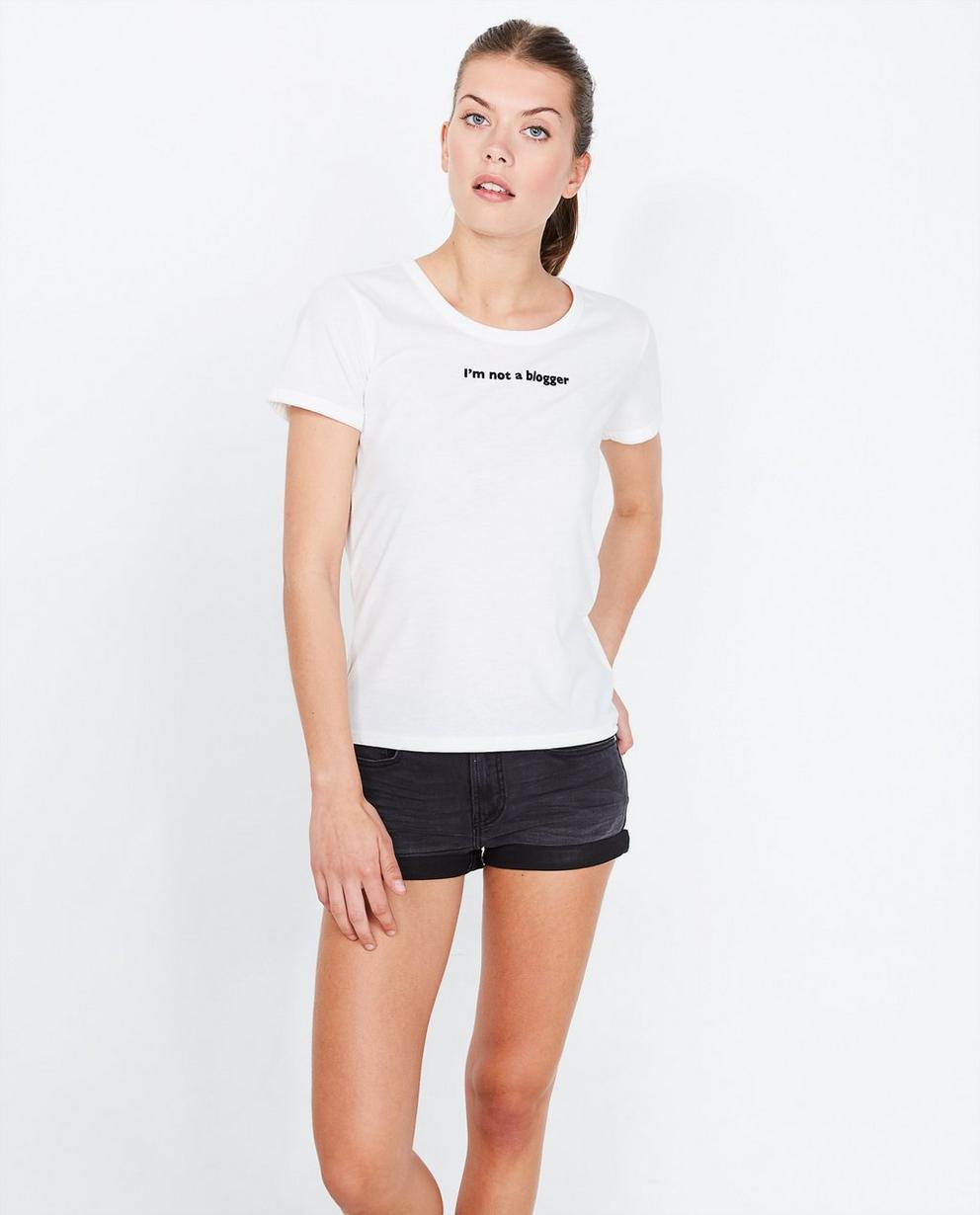 T-shirt à inscription - blanc, relief - Groggy